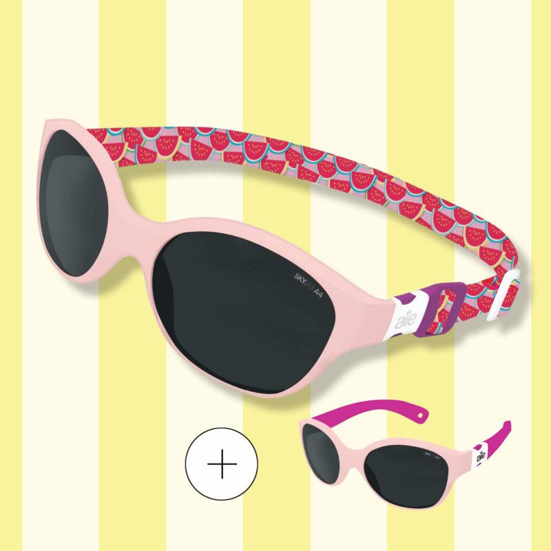 lunettes de soleil bebe evolutive bandeau/branche Aie les petites lunettes - modèle Bout'chou