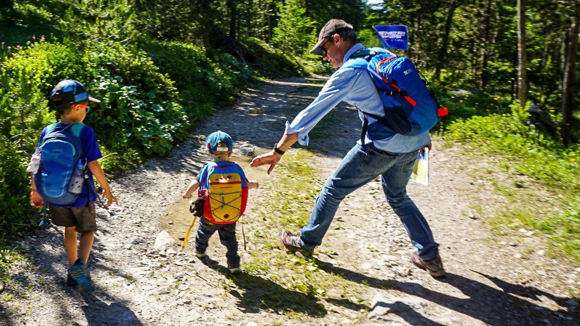 randonnée en famille dans le Val d'escreins